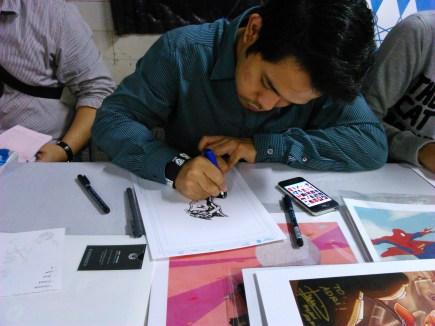 """""""Penggunaan tipe-x yang tidak diajarkan di sekolah"""", Ryan said when he use that for removing some inks he wrong to drawn."""