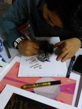 """Ryan bilang, """"Gue tambahin hati, deh. Ga tau kenapa pengen pake gambar hati"""", pas ngegambar hati setelah selesai menggambar keseluruhan dan tanda tangan. I'm blushing! :))"""
