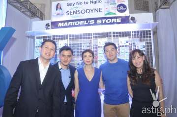 Jeoff Yulo, GM GSK Consumer Healthcare, Eduardo Cimafranca III Group Prod Mgr Oral Care, Angel Jacob, Campaign Advocate Luis Manzano and Giki Martija Marketing Director GSK Consumer HC