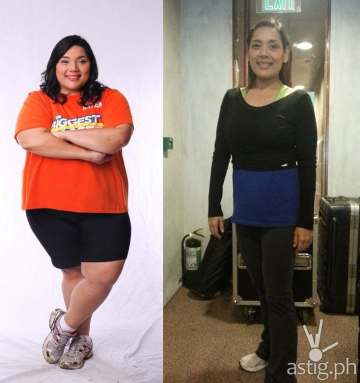 Before and after: Kayen of The Biggest Loser Pinoy Edition Doubles