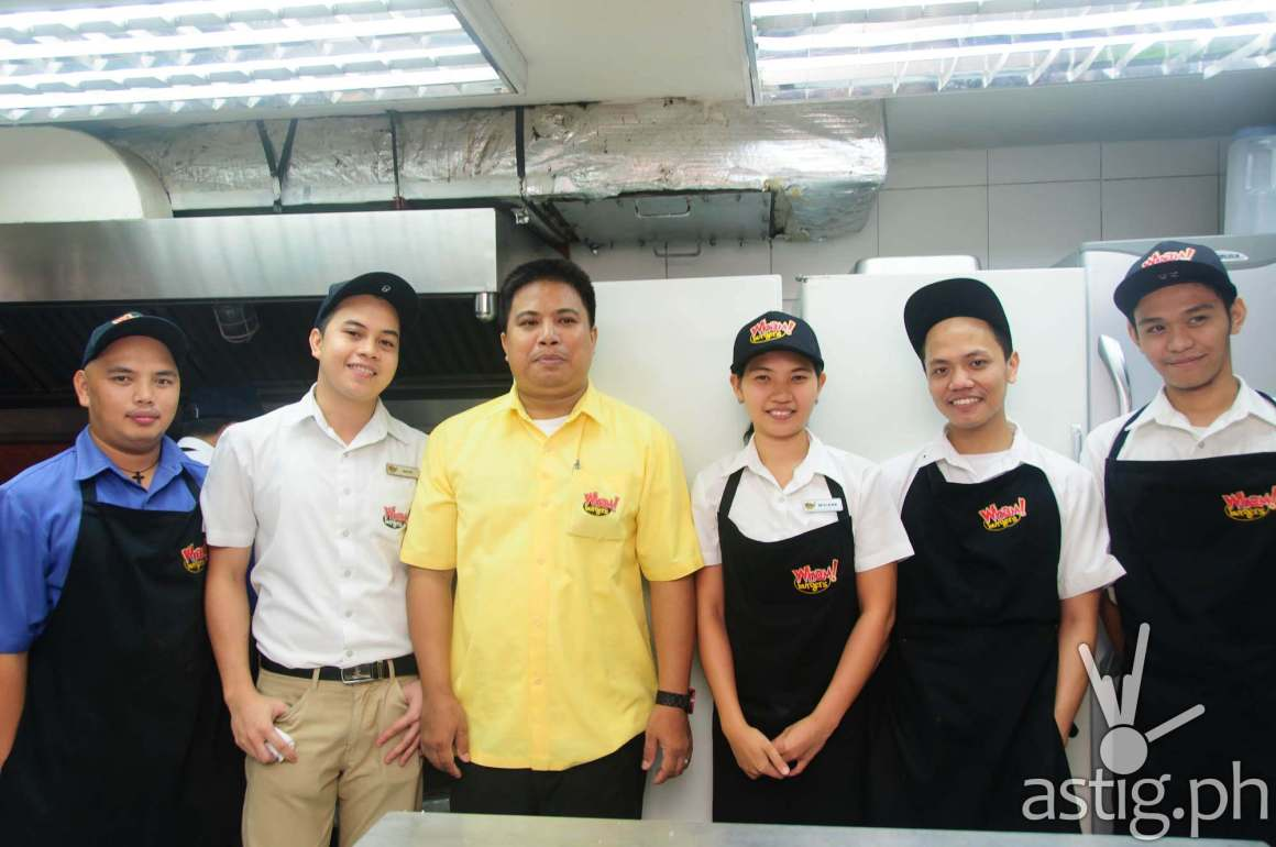 The friendly staff at Wham! Burger SM Mall of Asia