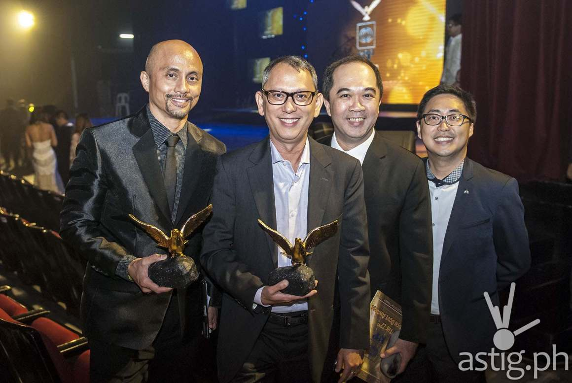ABS-CBN Publishing CEO Ernie Lopez, Head of Narrowcast March Ventosa, Head of Sports Dino Laurena and OIC of Corporate Communications Kane Choa