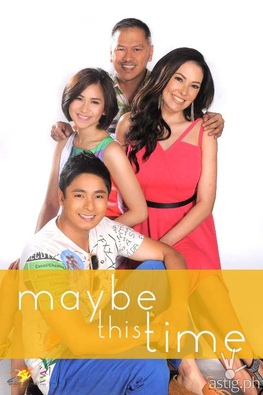 Sarah Geronimo, Coco Martin, Ruffa Gutierrez and Director Jerry Lopez Sineneng in Maybe This Time