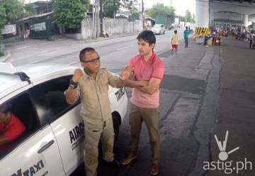 Spray taxi with Atom Araullo in Red Alert