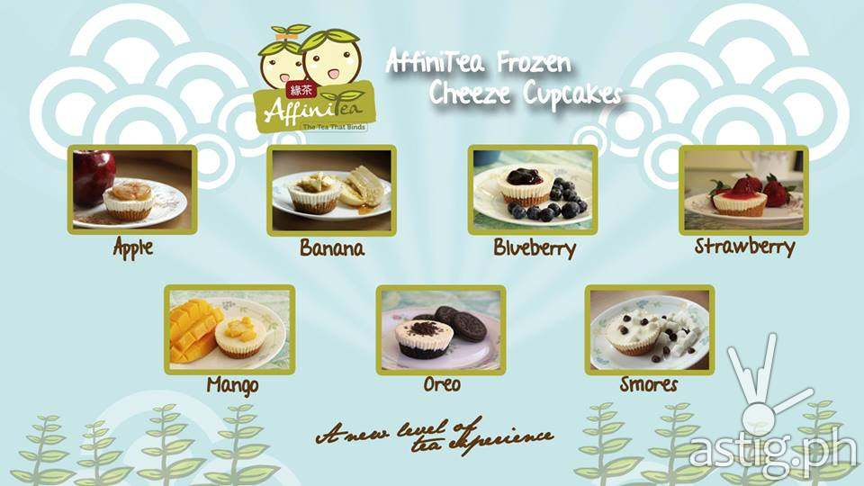 AffiniTea frozen cupcakes