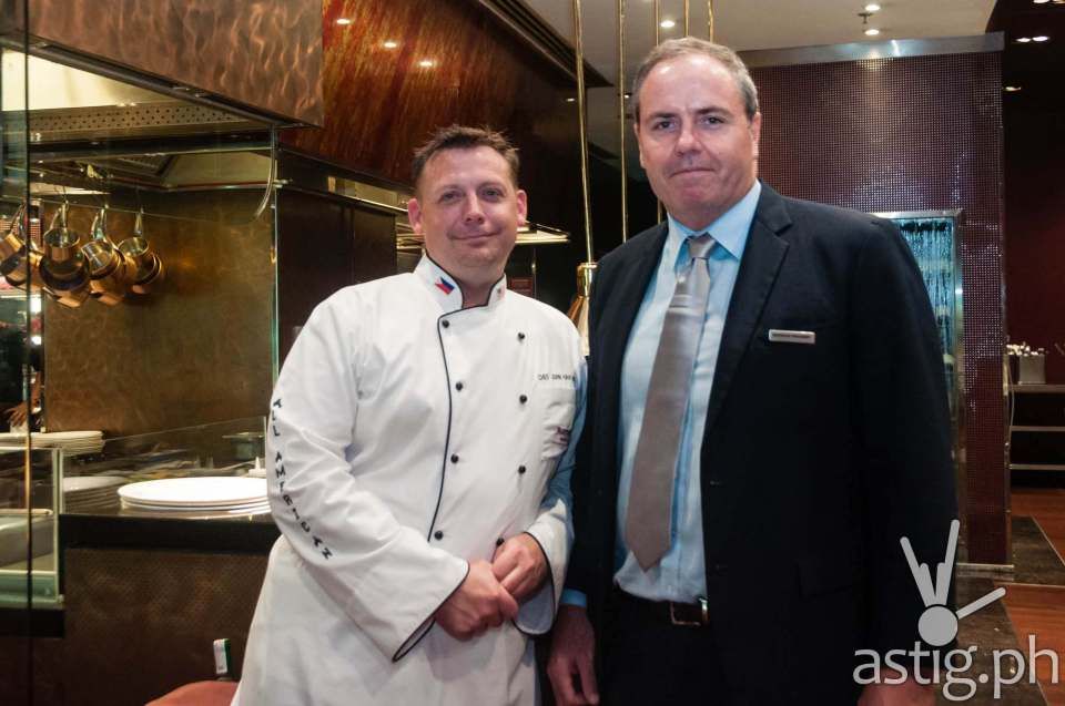 Certified Angus Beef Chef John Havens and Marriott Hotel Manila General Manager Brendan Mahoney