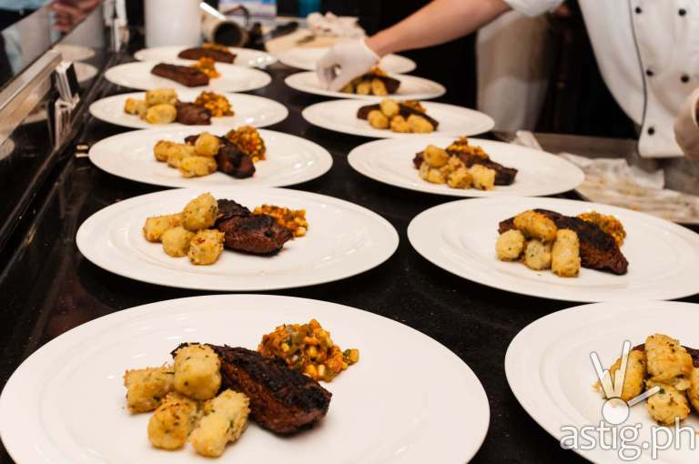 Flank steak at Marriott Hotel Manila