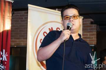 Mike Unson performing at Comedy Cartel