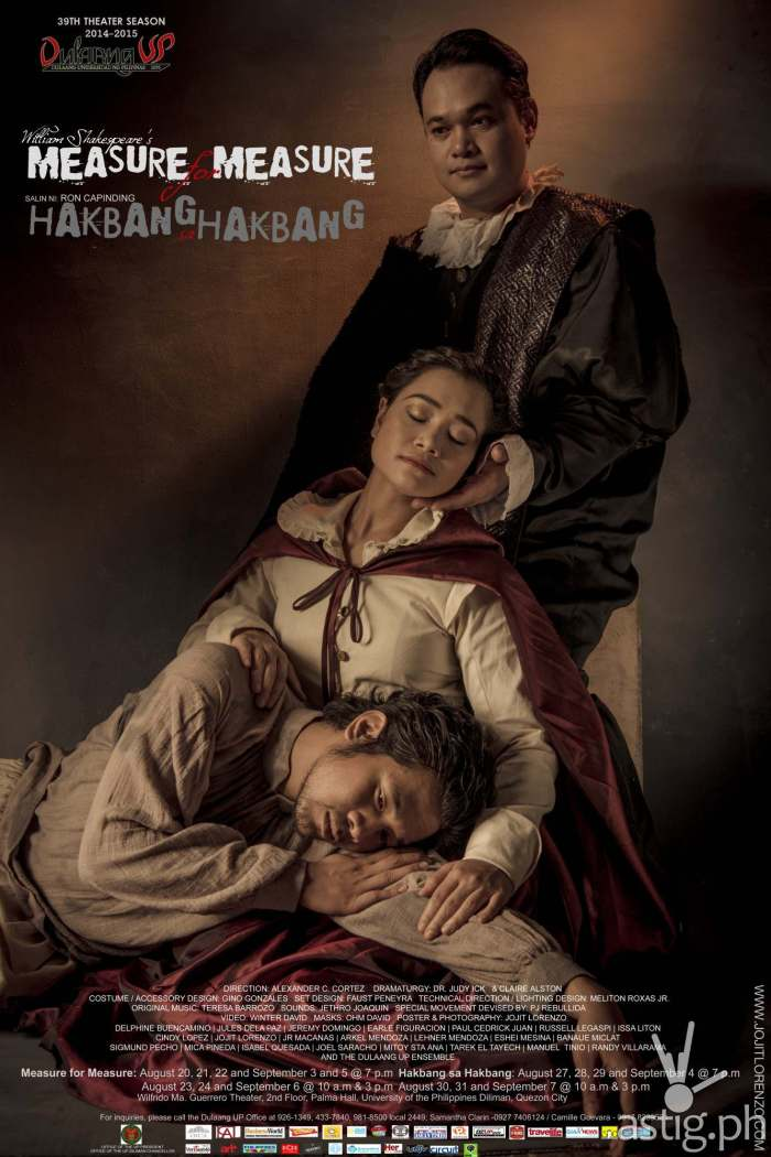 Hakbang sa Hakbang (Measure for Measure) by Dulaang UP poster