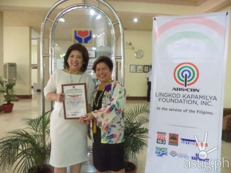 Clarissa Ocampo and Dinky Soliman for ABS-CBN Lingkod Kapamilya