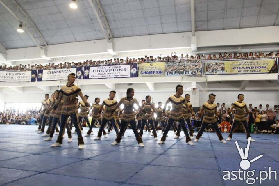 National University (NU) PEP Squad performs their winning routine for the 2014 UAAP Cheer Dance competition