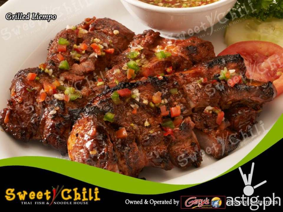 Grilled liempo (215 PHP) - Sweet Chili by Gerry's Grill