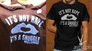 It's not rape it's a snuggle with a struggle SM Department Store foulmouthshirts