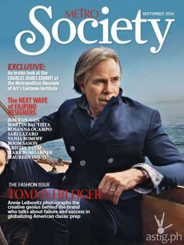 Metro Society features Tommy Hilfiger in its Fashion Issue