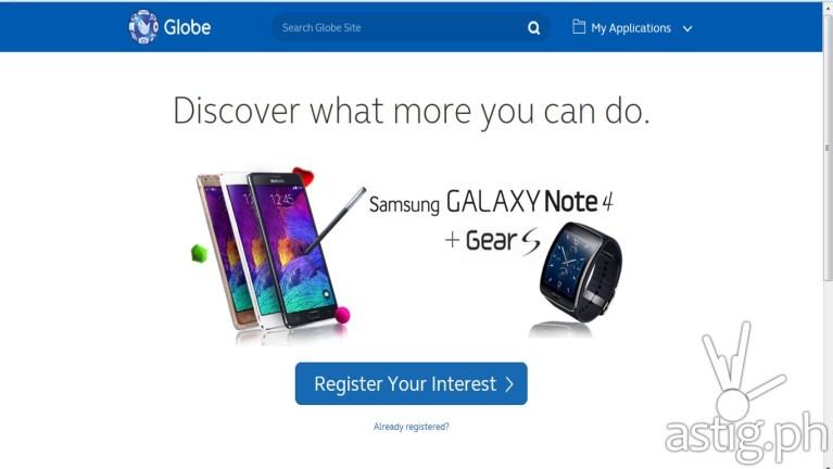 Samsung Galaxy Note 4 Portal by Globe Telecom