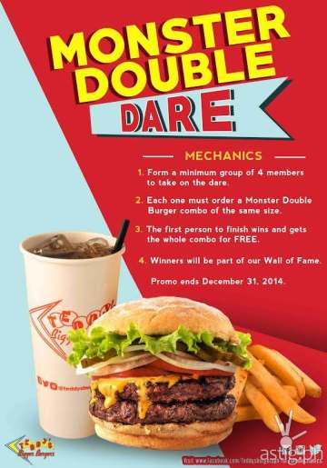 Teddy's Monster Double Dare at Teddy's Bigger Burgers poster