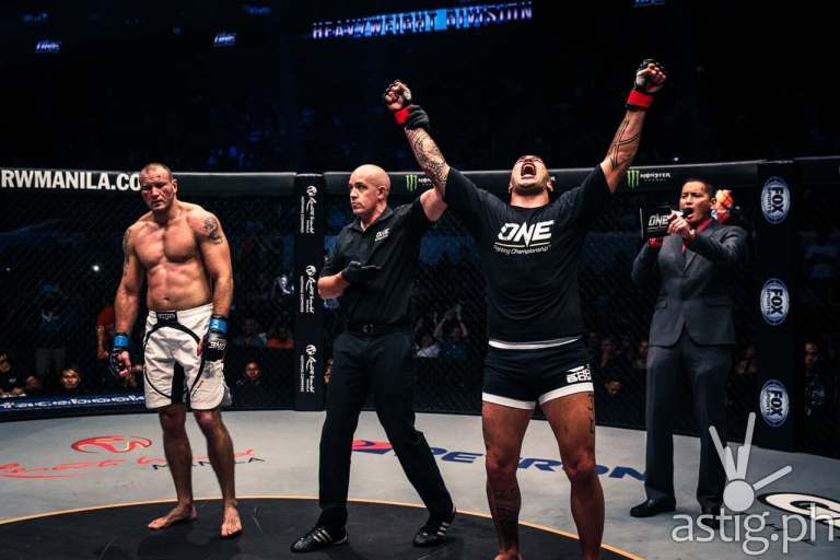 "Brandon Vera celebrates a sweet ""coming home"" knockout victory over Igor Subora"