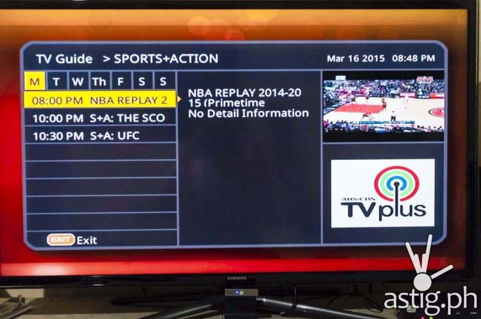 ABS-CBN TVplus program guide
