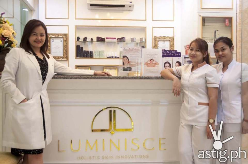 Dr. Kaycee Reyes with Micah and Maricar at Luminisce in BGC, Taguig