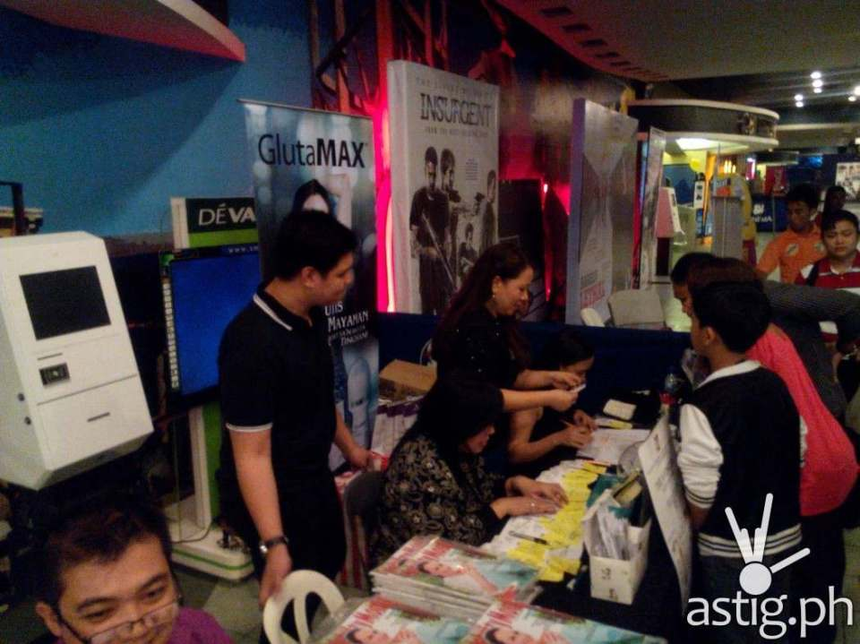 PMCM marketing booth at the Fast & Furious 7 special blocked screening  held in SM Megamall