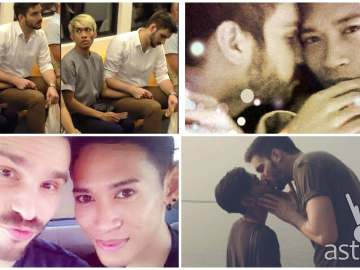 Gay couple Naparuj Mond Kaendi and boyfriend Thorsten Mid from Thailand