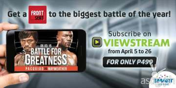 Watch Pacquiao vs Mayweather live on Viewstream