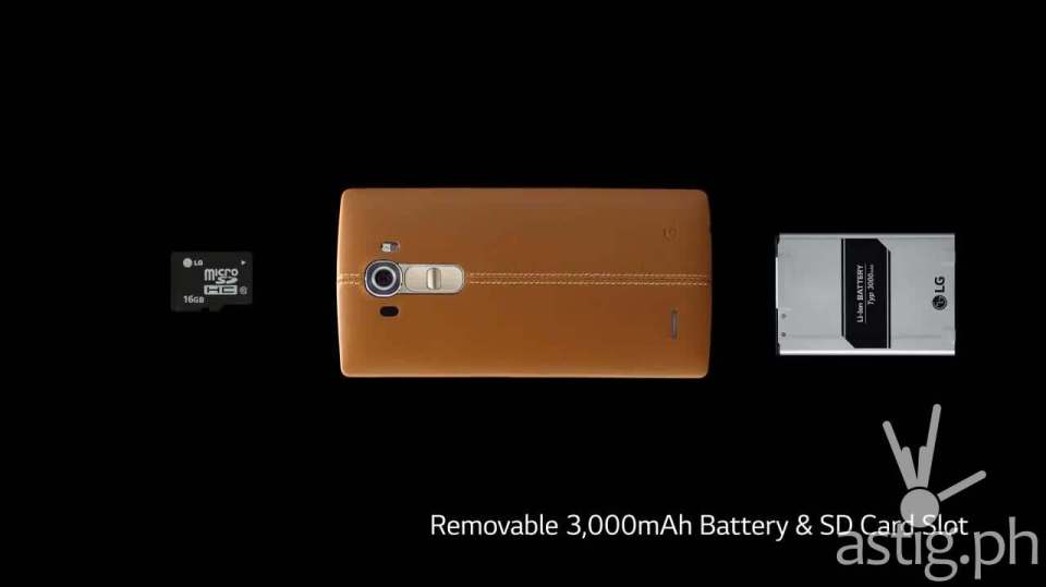 LG G4 removable battery MicroSD ccard