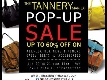 THE TANNERY MANILA - POP UP SALES