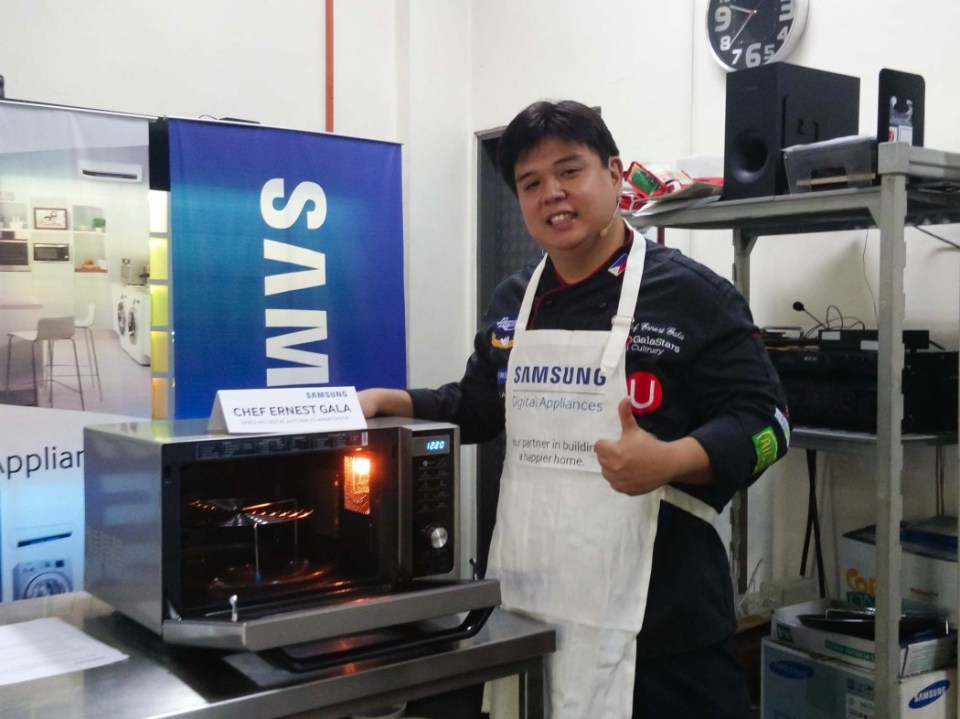 Chef Ernest Gala shows off the Samsung Smart Oven