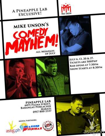 Mike Unson Comedy Mayhem Pineapple Lab