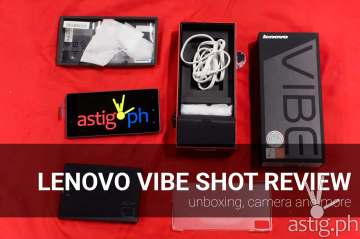 Lenovo Vibe Shot review unboxing camera