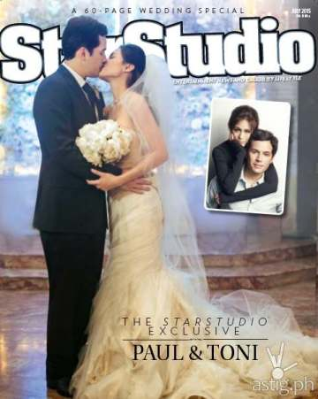 Toni Gonzaga Paul Soriano wedding StarStudio July 2015 issue