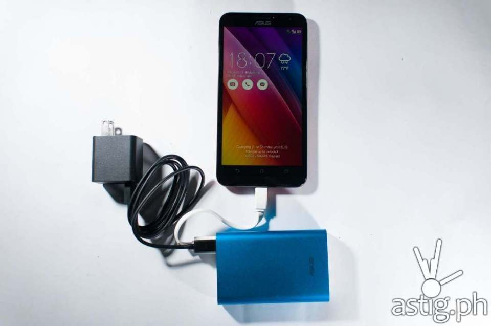 ASUS Zenfone 2 Laser (ZE550KL) with ASUS Zenpower 10050 mAh powerbank