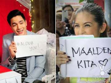 AlDub is Alden Richards and Yaya Dub (Maine Mendoza)
