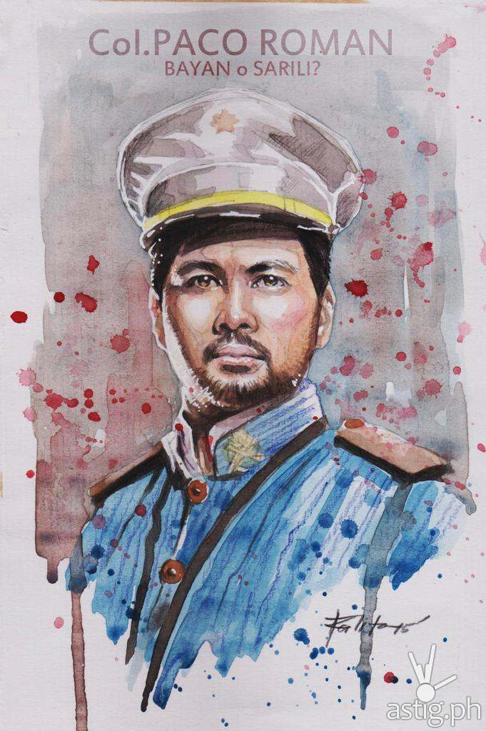 Col Paco Roman watercolor painting by Peejhey Palita