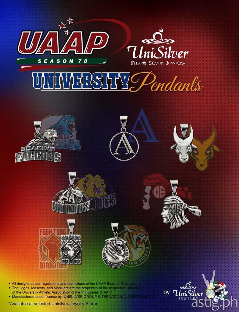 UAAP UniSilver Pendants