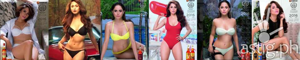 Jessie Mendiola is 2016 Tanduay calendar girl