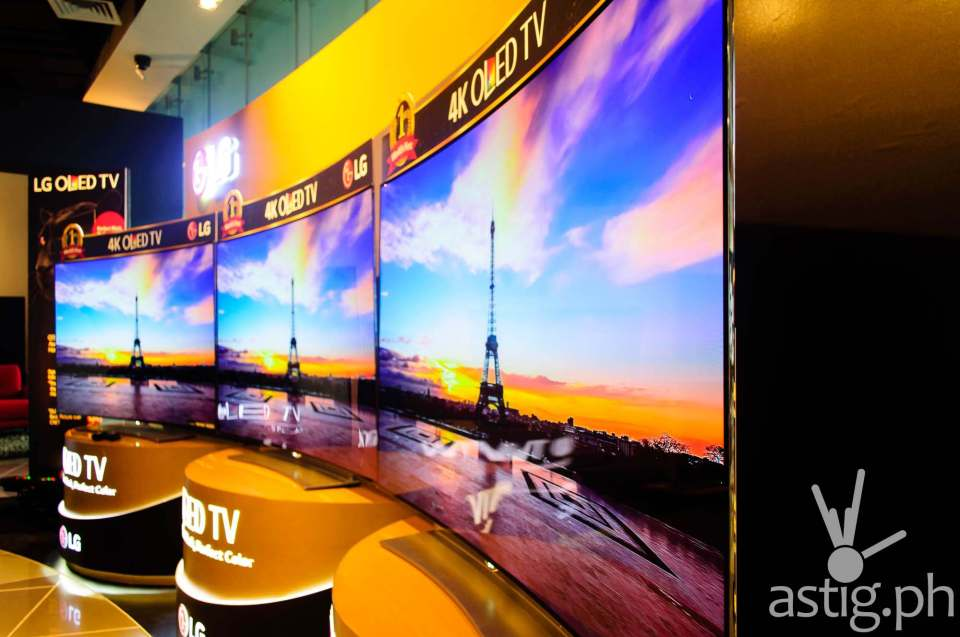 LG Curved 4K OLED TV press event held in Bonifacio Global City, Taguig, Philippines
