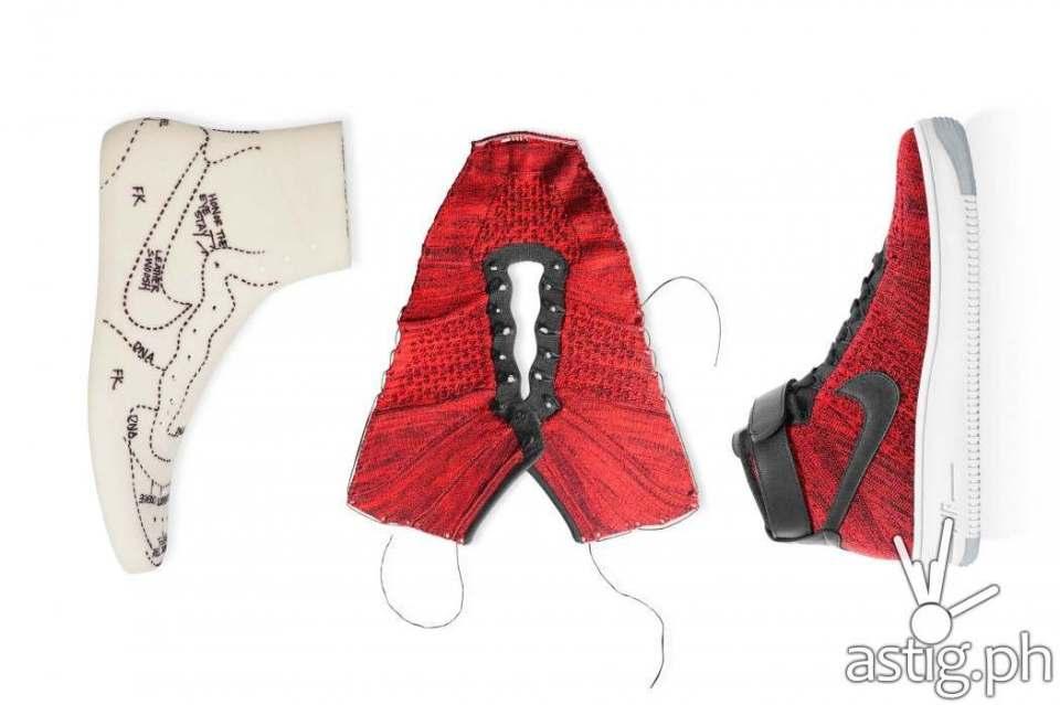 Nike Air Force 1 AF1 Flyknit form shoe