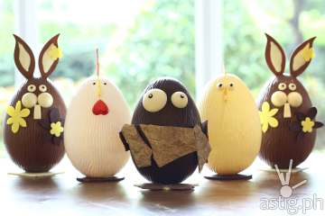 Easter Chocolate Eggs at Marriott Cafe