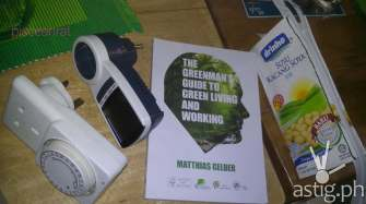 gadgets in helping save electricity, upcycling soy milk carton to pencil box