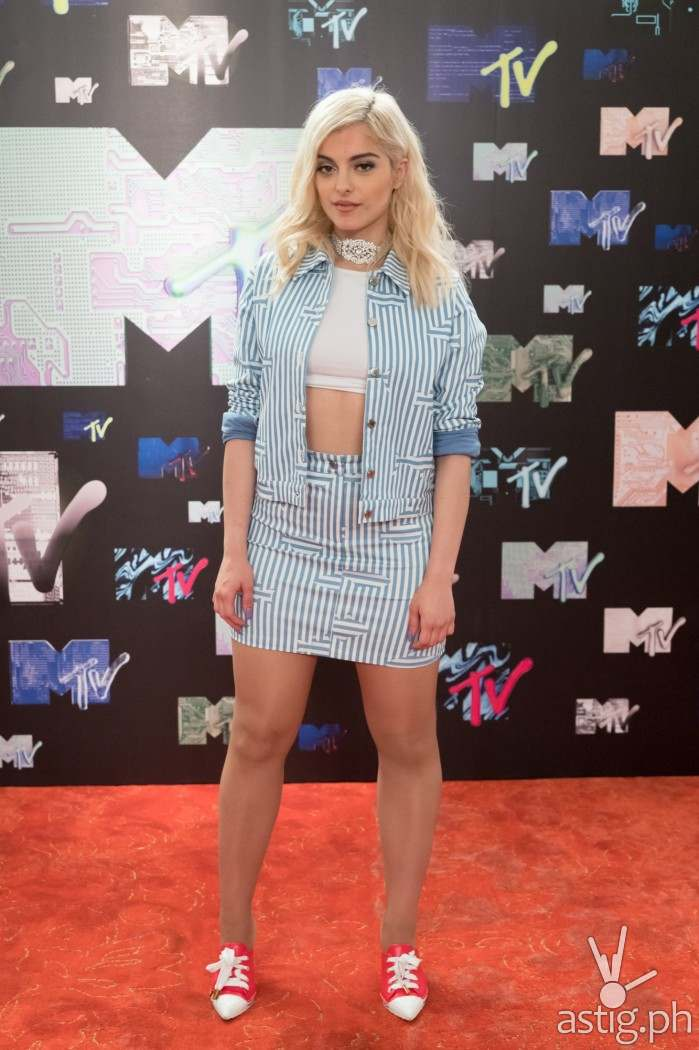 Bebe Rexha during MTV Music Evo 2016 Press Conference
