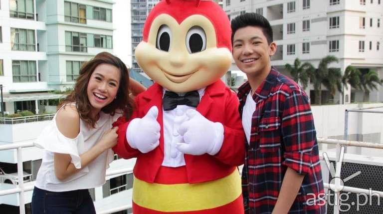 Rachelle Ann Go and Darren Espanto with Jollibee