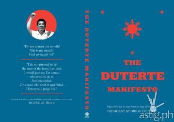 DUTERTE MANIFESTO book cover