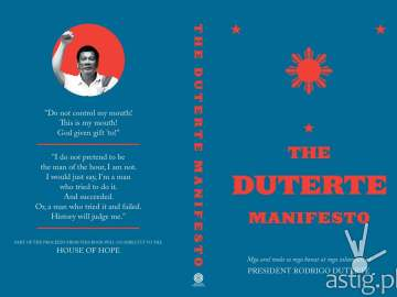 DUTERTE MANIFESTO book cover