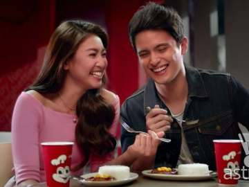 James Reid, Nadine Lustre Jollibee sweet spicy BBQ burger steak commercial