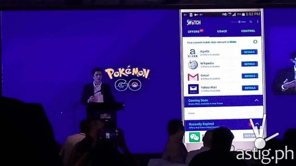 Globe Telecom made the announcement to give 7 days of Pokemon Go for FREE at the Globe Switch launch