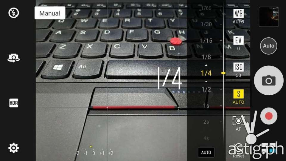 ASUS ZenFone 3 camera manual settings