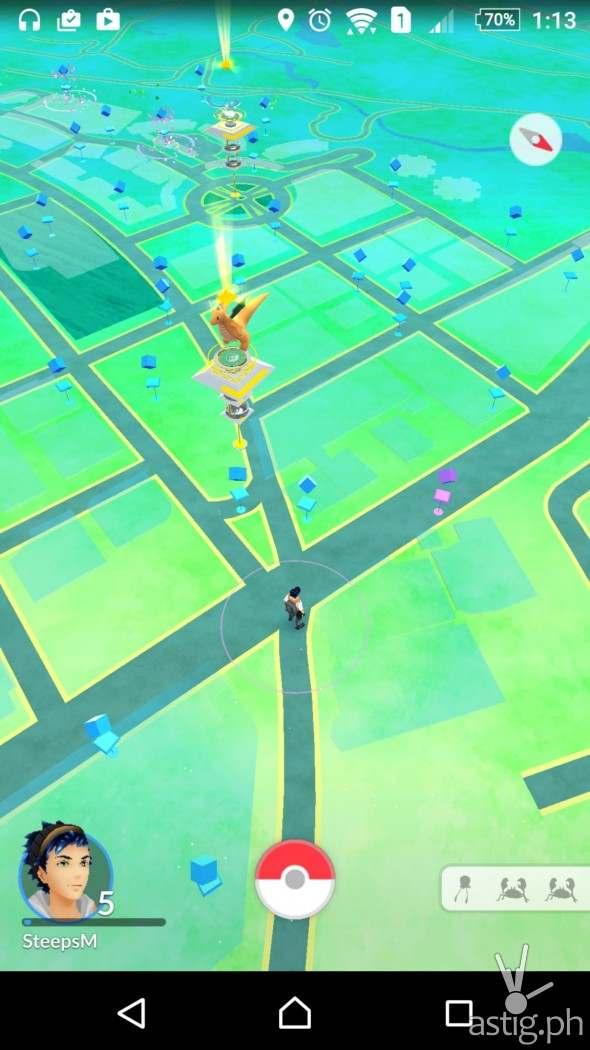 Pokemon Go in-game screenshot