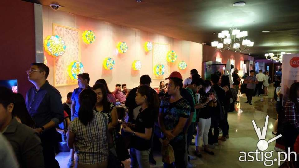 Moviegoers lined up early to avoid missing any scene at the Doctor Strange block screening at Resorts World Manila